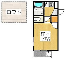 京都府京都市下京区堺町通五条上る俵屋町の賃貸アパートの間取り