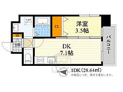 アンフィニ17マローネ 4階1DKの間取り