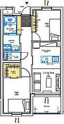 (新築)ガーデンヒルズ神宮外苑[206号室]の間取り