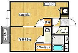 メタルコート[2階]の間取り