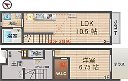 [テラスハウス] 東京都中野区鷺宮3丁目 の賃貸【/】の間取り