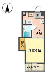 CASANOA名東(カーサノア)[3階]の間取り