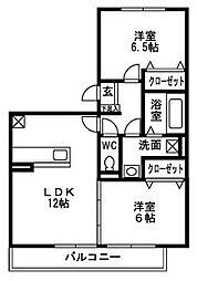 オリエンタル岡弥[1階]の間取り