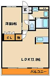 コーポ・サカシタA棟[1階]の間取り