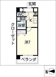 UURコート名古屋名駅[5階]の間取り