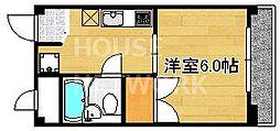 ハイツ北野[106号室号室]の間取り