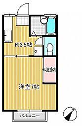 シャトルパート3[2階]の間取り