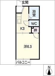 グリーンハイツ榊原[2階]の間取り