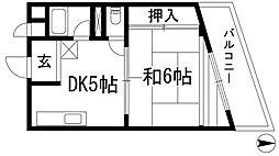 メゾン旭ヶ丘[4階]の間取り