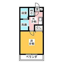 アンプルール ブワ Reve II[1階]の間取り