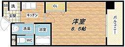 アーバンステージ安堂寺II[5階]の間取り