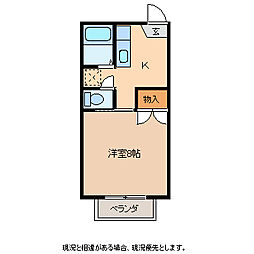 コーポちえ[2階]の間取り