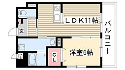 愛知県名古屋市守山区大字下志段味字唐曽の賃貸マンションの間取り