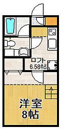 ベルフロレスタ[2階]の間取り
