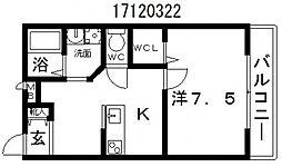 クレアーレカンノン[2階]の間取り