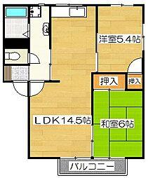 ライトハウス I[1階]の間取り
