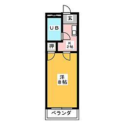 ベストハイツ三ツ井[4階]の間取り