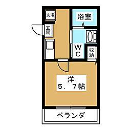 WEST9五条烏丸[1階]の間取り