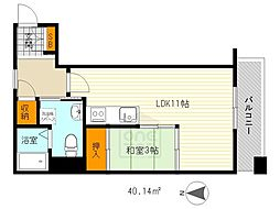 ロハス江坂[7階]の間取り