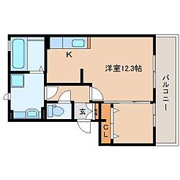 JR東海道本線 静岡駅 バス24分 宮川下車 徒歩2分の賃貸アパート 1階ワンルームの間取り