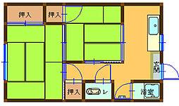 光栄荘[1階]の間取り