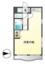 エスポアール芳野[4階]の間取り