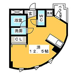 ミクニハイツIII[2階]の間取り