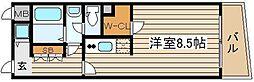 アドバンス西梅田[9階]の間取り