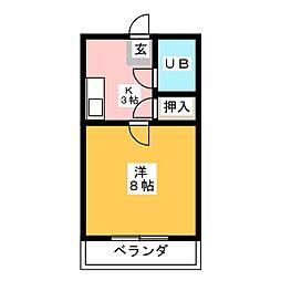 安井マンションII[1階]の間取り