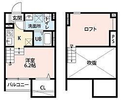 CASAK(カーサケイ)[1階]の間取り