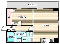 レジオン福島[3階]の間取り