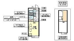レオパレス野崎参道[2階]の間取り
