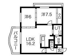 メルシメゾン[4階]の間取り