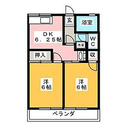 サクラハイツA[2階]の間取り