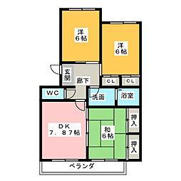 スフィアMIE[4階]の間取り