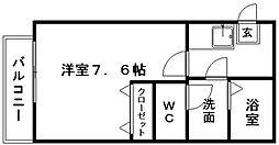 クレフラスト寺島町[2階]の間取り