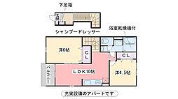 福岡県糸島市加布里の賃貸アパートの間取り