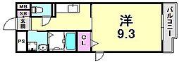ロードサイドテラス[1階]の間取り