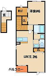 ソレイユI番館[2階]の間取り