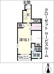 エターナルII[1階]の間取り