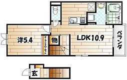 サンデリアーナIII A棟[2階]の間取り
