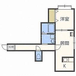 FOREST栄通B[106号室]の間取り