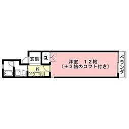 タウンハイツ熊田[4階]の間取り