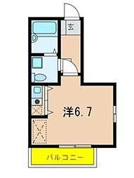 フェルドルフ市川[1階]の間取り