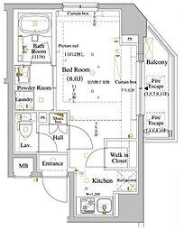 ARKMARK巣鴨 2階ワンルームの間取り