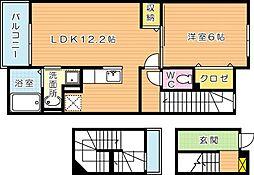 グッドライフ別所II[3階]の間取り