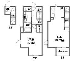 東京都狛江市岩戸北4丁目の賃貸マンションの間取り