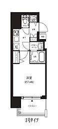 Osaka Metro中央線 堺筋本町駅 徒歩4分の賃貸マンション 9階1Kの間取り