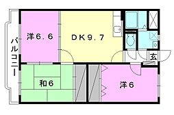 Happiness S[105 号室号室]の間取り
