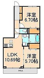 (仮)D-room西綾瀬[105号室]の間取り